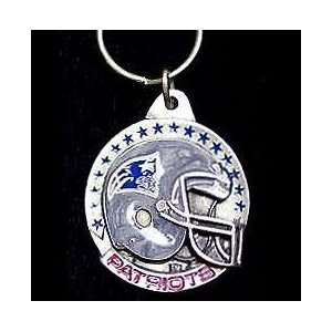 NFL Helmet Key Ring   New England Patriots