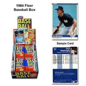 Fleer Mlb 1984 Unopened Trading Card Box Sports
