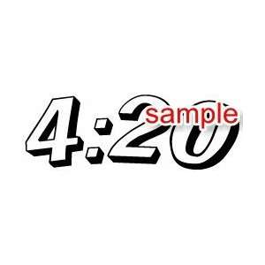 RANDOM FOUR TWENTY 10 WHITE VINYL DECAL STICKER