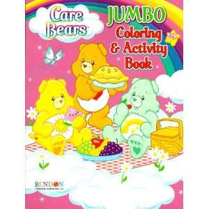 Care Bears Jumbo Coloring & Activity Book ~ Funshine, Tenderheart, and