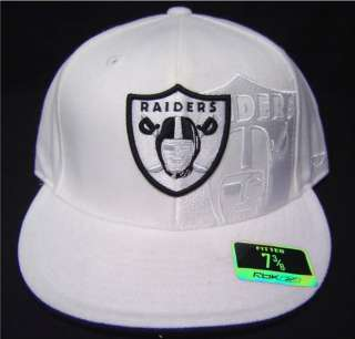 NFL Oakland Raiders Flatbill Fitted Cap with Double Embroidered Logo