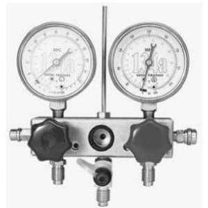 TIF 4580A Manifold Gauge Set with Hoses and Glycerine Filled Gauges