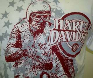 Harley Davidson Las Vegas Dealer Tee Shirt WHITE MEDIUM #BRAVA1
