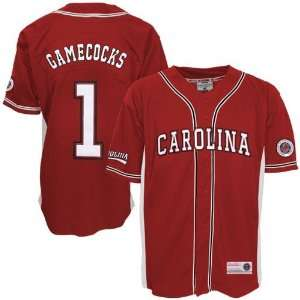 South Carolina Gamecocks #1 Garnet Rocket Baseball Jersey