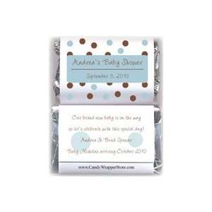 MINIBS229B   Miniature Blue Dots Baby Shower Candy Bar
