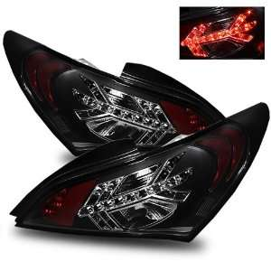 09 11 Hyundai Genesis Black LED Tail Lights Automotive