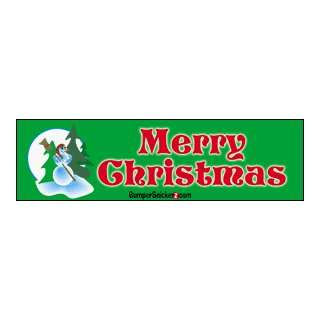Merry Christmas   Christmas Bumper Stickers (Large 14x4