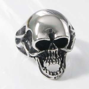 Maltese Cross Stainless Steel Mens Biker Ring 15c
