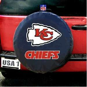 Kansas City Chiefs NFL Spare Tire Cover (Black) Sports