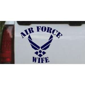 6in X 6.8in Navy    Air Force Wife Military Car Window Wall Laptop