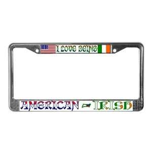 American Irish Ethnicity License Plate Frame by