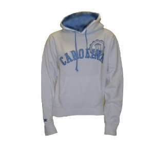 North Carolina Junior White Hooded Fleece XS Sports