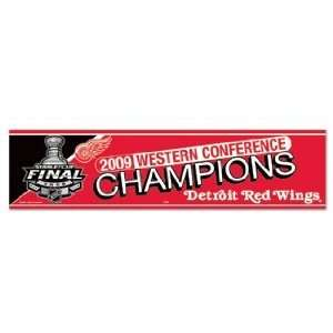2009 NHL Western Conference Champions Bumper Sticker Arts