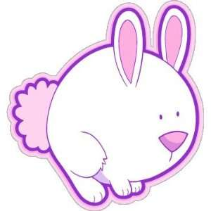 Hare kids lovely car bumper sticker decal 5 x 5