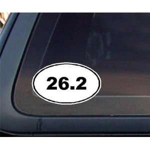 26.2 Marathon Euro Oval Car Decal / Sticker   Black