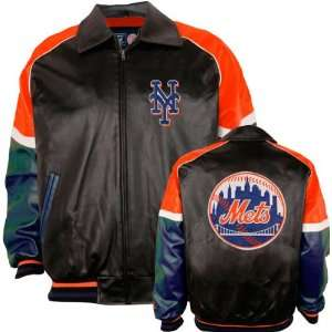 New York Mets Varsity Faux Leather Jacket Sports