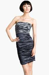 Nicole Miller Strapless Metallic Sheath Dress $455.00