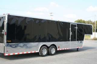 5x32 ENCLOSED CARGO AUTO CAR HAULER RACE TRAILER GOOSENECK BLACK