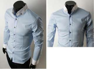 NWT Mens Slim Style Long Sleeve Cotton Fit Casual Dress Shirts 5804