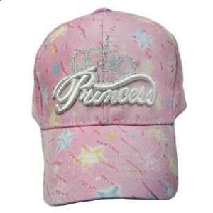 PRINCESS PINK YOUTH KIDS SIZE GIRLS HAT CAP STARS ADJ