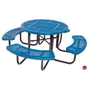 Midwest 358 RDP, 46 Round Outdoor Steel Picnic Table with