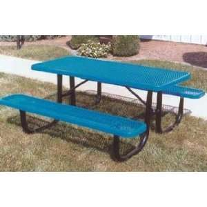 Expanded Metal Picnic Table Patio, Lawn & Garden