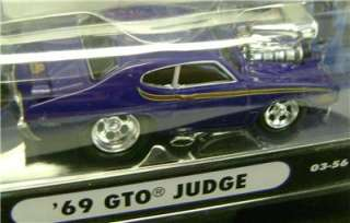 1969 GTO JUDGE PURPLE FUNLINE MUSCLE MACHINES DIECAST 164