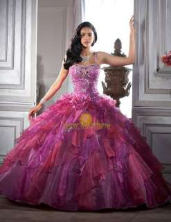 Party Masquerade Helloween Evening Prom Dress Ball Gowns Custom made