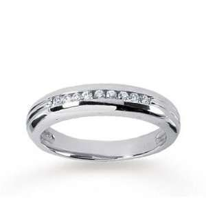 14k White Gold Slim Round 1/4 Carat Mens Diamond Ring Jewelry