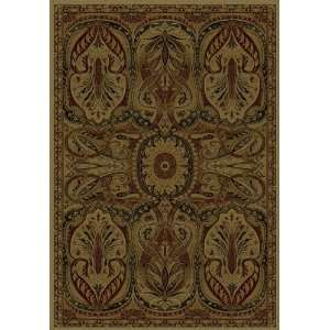 Black Floral Red Tan and Black Area Rug 7.90 x 10.60.