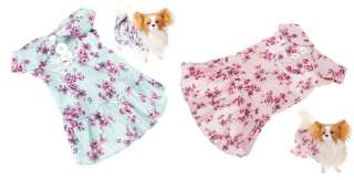 Pet Dog Puppy Elegant Design Summer Floral Blossom Dress Clothes