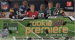 2008 UPPER DECK NFL PLAYERS ROOKIE PREMIERE BOX SET