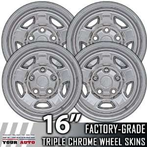 06 09 MITSUBISHI RAIDER 16 Chrome Wheel Skin Covers Automotive