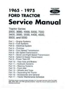 FORD Tractor Shop Manual 1965 1975