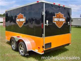 7x12 enclosed cargo trailer Finished interior harley davidson decal