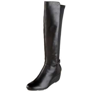 Calvin Klein Womens Knee High Boots Jazlynn Calf Stretch E7355 Black