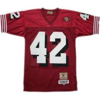 Ronnie Lott #42 San Francisco 49ers Throwback Red Sewn Mens Size