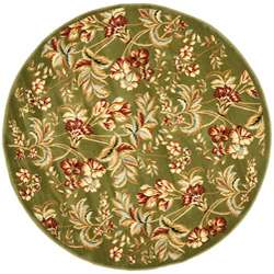 Lyndhurst Collection Floral Sage Rug (5 3 Round)