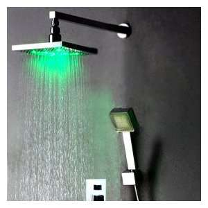 Factory drop ship Chrome Wall mount LED Shower Faucet
