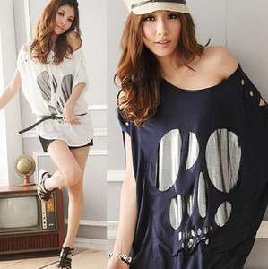 Stylish Korea Women Ladys Casual T shirt off shoulder Top & Blouse