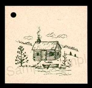 50 OLD CABIN HANG TAGS PERSONALIZE YOUR ITEMS PRICE