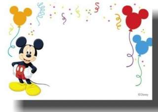 Mickey Mouse Personalized Thank You Note Cards