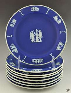 Blue Jasperware Wedgwood Decorative Plates Classical