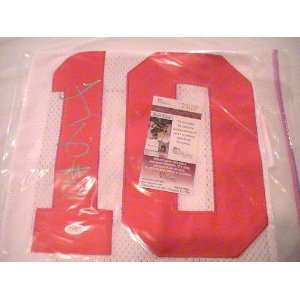 TROY SMITH SIGNED AUTOGRAPHED OHIO STATE BUCKEYES JERSEY