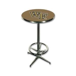 Wake Forest University Chrome Pub Table Bar Furniture Sports