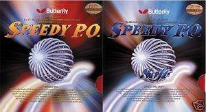Butterfly Speedy PO or soft rubber Table tennis ping