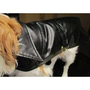 Ultra Chic Black with Red Lining Dog Coat LARGE (18