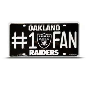 Oakland Raiders Metal Nfl Sport License Plate Wall Sign