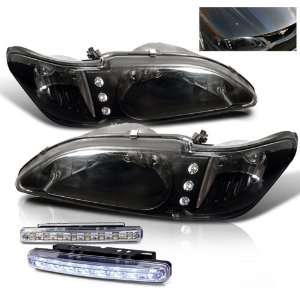 Eautolight 94 98 Ford Mustang Chrome LED 2in1 Head Lights