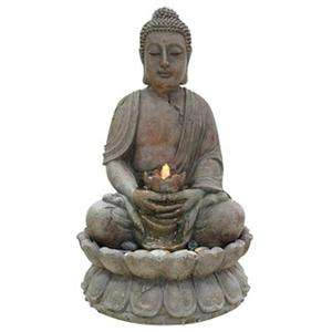 Alpine Buddha Serenity Indoor Outdoor Water Fountain New